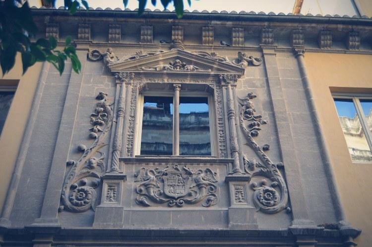 Colegio Niñas Nobles Ventana calle Carcel Baja Granada