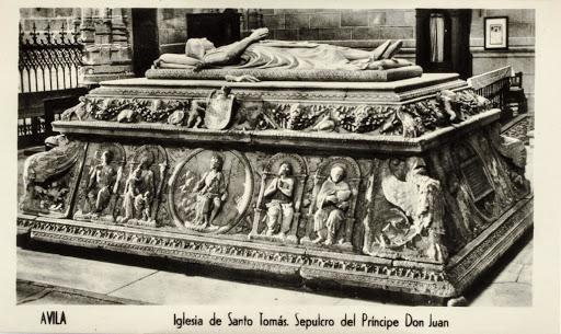 Sepulcro del Príncipe Don Juan. Iglesia de Santo Tomás Ávila