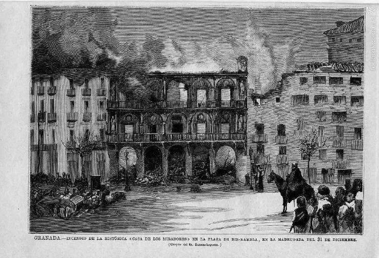 Incendio en La casa de los Miradores Granada