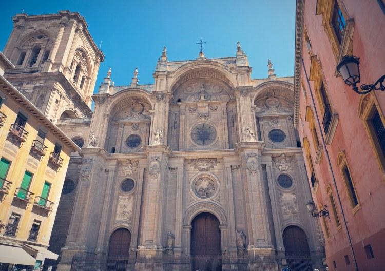 Fachada exterior y principal de la Catedral de Granada